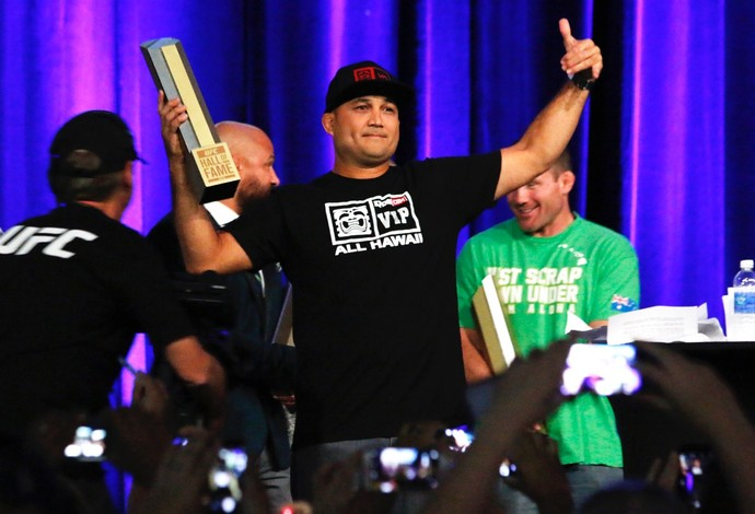 BJ Penn Hall da Fama UFC 2015 MMA (Foto: Evelyn Rodrigues)