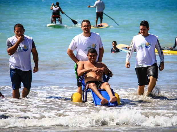 Semel realiza 4º edição do Praia Acessível neste sábado (25) (Foto: Divulgação/Ascom Semel)