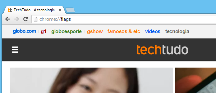 Acesse os recursos experimentais do Chrome (Foto: Reprodução/Helito Bijora)