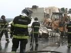 Princípio de incêndio em caminhão complica tráfego na Bandeirantes