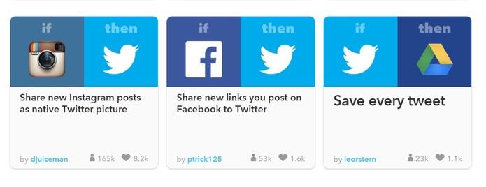 Confira 20 receitas do IFTT essenciais para o Twitter (Foto: Reprodução/IFTT)