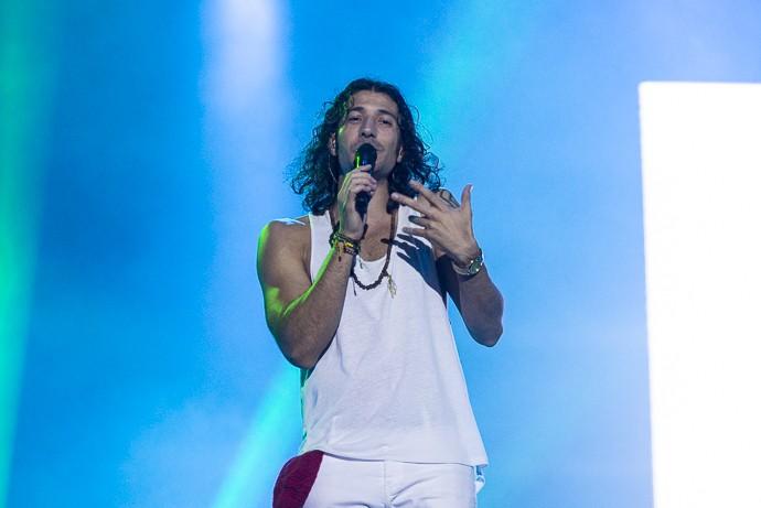 O vocalista da banda avisou que quer voltar ao Brasil sempre (Foto: Ellen Soares / Gshow)