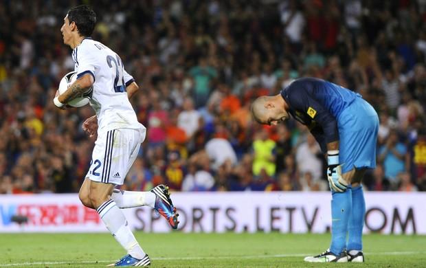 Di María Victor Valdés Barcelona Real Madrid (Foto: Getty Images)