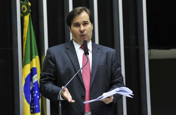 O deputado Rodrigo Maia (DEM-RJ) deve ter apoio de partidos do governo e da oposição (Foto: Luis Macedo/Câmara dos Deputados)