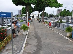 Cemitério Santa Catarina, um dos mais movimentados de em João Pessoa (PB) (Foto: Divulgação/Secom-JP)