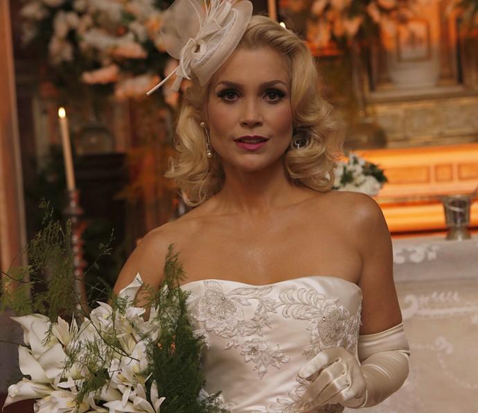 Sandra esta simplesmente deslumbrante de noiva! (Foto: Pedro Carrilho/Gshow)