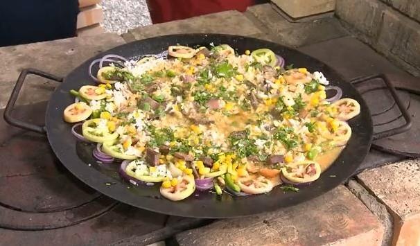 Frutos do mar com carne de sol (Foto: Reprodução/TV Paraíba)