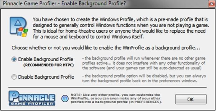 """Clique em """"Ok"""" para o programa criar um perfil padrão (Foto: Reprodução / Dario Coutinho)"""
