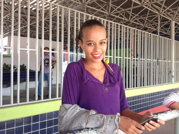 Estudante Caline da Silva, de 24 anos,  (Foto: Jackson Félix/G1 RR)
