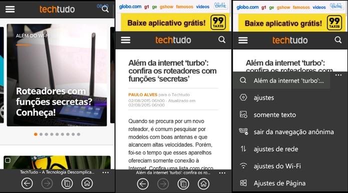 Ideal para usar com 3G/4G, UC Browser ajuda a economizar o seu plano de dados (Foto: Reprodução / Dario Coutinho)