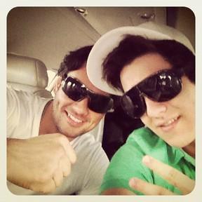 Luan Santana e o personal trainer, Augusto Oguido (Foto: Instagram / Reprodução)
