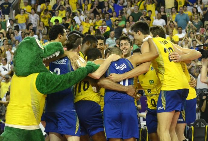 Brasil x Argentina, Sul-Americano de vôlei (Foto: Alexandre Arruda/CBV)