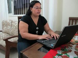 Anna Flávia se isolou de colegas do trabalho (Foto: Anna Gabriela Ribeiro/G1)