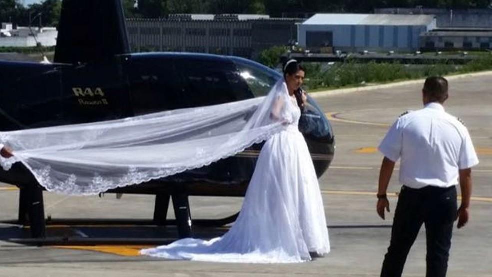 Noiva que morreu em acidente de helicóptero no domingo (4), na Grande São Paulo (Foto: Redes Sociais)