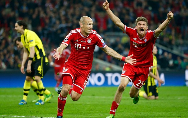 Robben gol Bayern de Munique x Borussia Dortmund (Foto: Reuters)