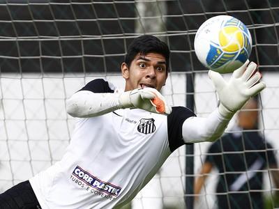 João Paulo, goleiro do Santos (Foto: Ricardo Saibun / Divulgação Santos FC)