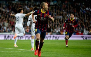 iniesta barcelona x real madrid  (Foto: Getty Images)