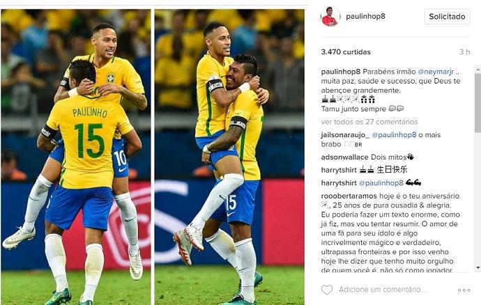 Neymar aniversário Paulinho