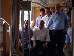 Governador esteve em Santos nesta sexta-feira (23) (Foto: Mariane Rossi/G1)