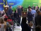Deputado grita 'vergonha' durante  cerimônia de posse de Lula