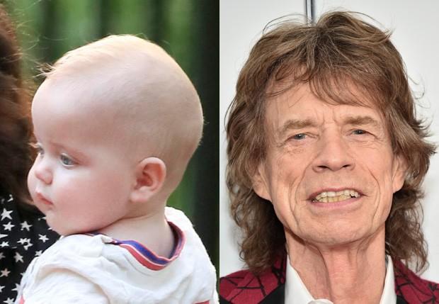 Deveraux Jagger, caçula de Mick Jagger (Foto: Grosby Group e Getty Images)