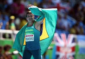 Final dos 100m rasos T38, com Edson Pinheiro conquistando a medalha de bronze (Foto: Alaor Filho/MPIX/CPB)