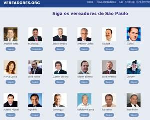 Rede social dos vereadores de São Paulo permite seguir as atualizações dos políticos (Foto: Reprodução)