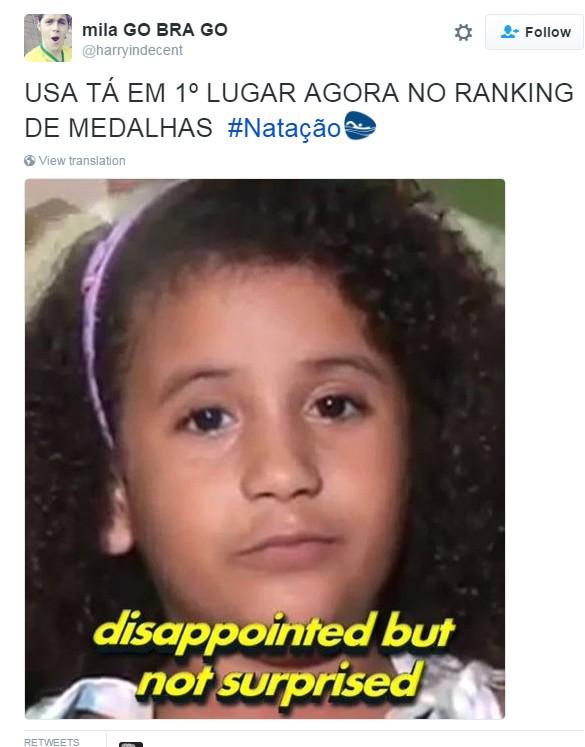 meme olimpíada primeiro fim de semana 10 (Foto: Reprodução/Twitter)
