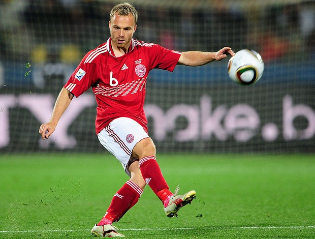 Lars Jacobsen, lateral da Dinamarca (Foto: Getty Images)