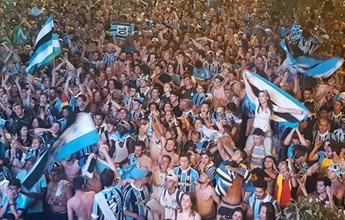 Arena Goethe: gremistas comemoram título em avenida de Porto Alegre