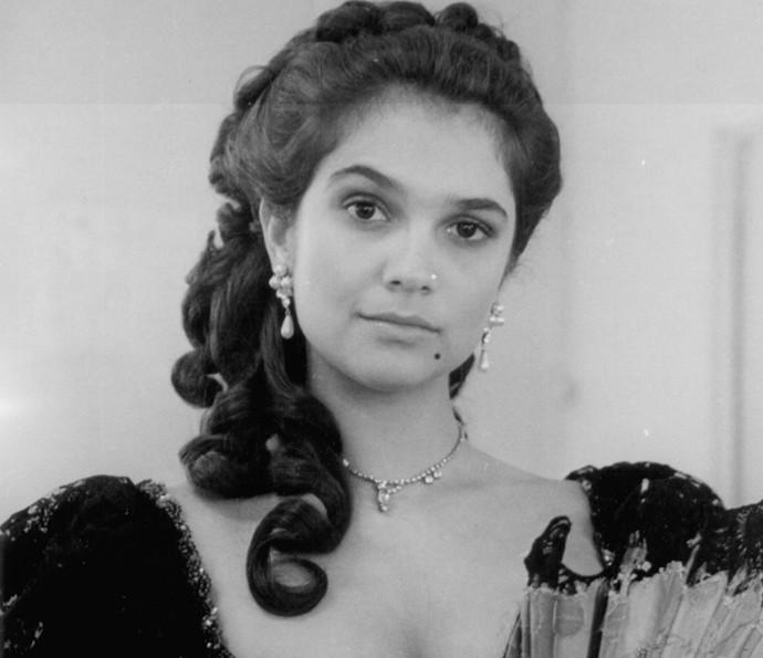 Na novela Pacto de Sangue (1989), Sandra deu vida a Celeste (Foto: TV Globo)