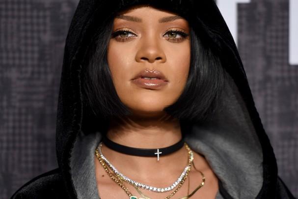 Rihanna no evento de lançamento da coleção Fenti X Puma, em NY (Foto: Getty Images)