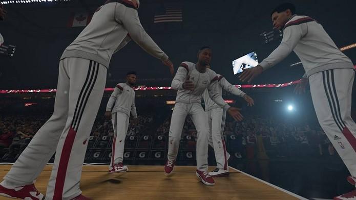 Introdução dos jogadores foi adicionada ao novo NBA (Foto: Reprodução/Thiago Barros)
