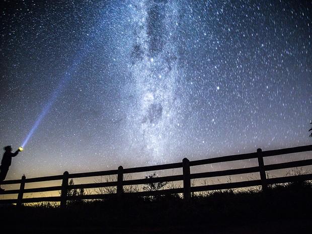 Céu de Santa Rita de Caldas registrado por astrofotógrafo (Foto: Régis Júnior / VC no G1)