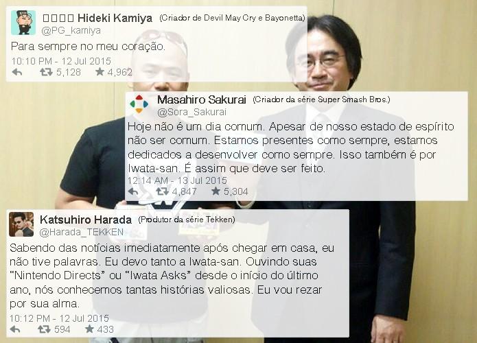 Até mesmo Hideki Kamiya, conhecido por ser extremamente grosseiro, tinha apenas coisas boas para falar de Satoru Iwata (Foto: Reprodução/Rafael Monteiro)
