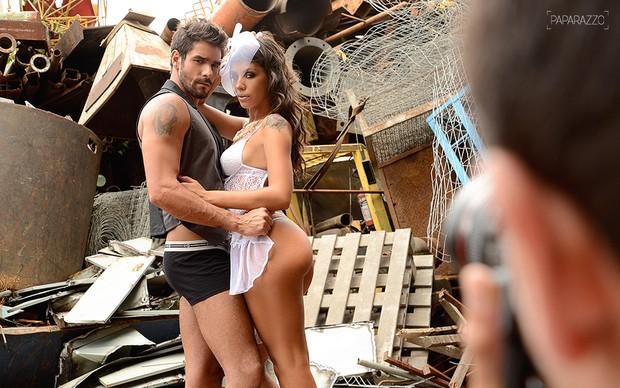 Making of Fran Almeida e Diego Grossi posando para o Paparazzo (Foto: Luciana Tancredo / Paparazzo)