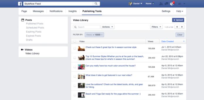 Facebook cria Video Library para organizar mídias publicadas na rede social (Foto: Reprodução/Facebook)