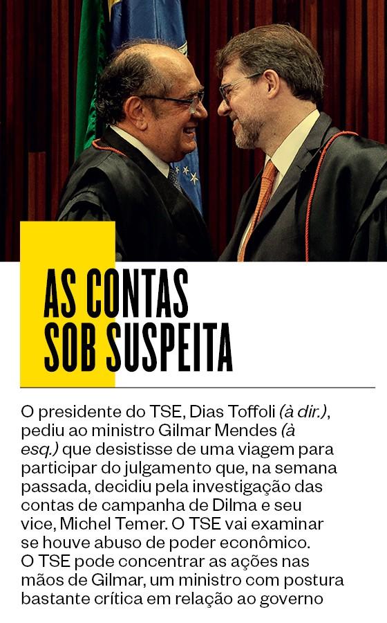 Dias Toffoli e ministro Gilmar Mendes  (Foto: Alan Marques/Folhapress)