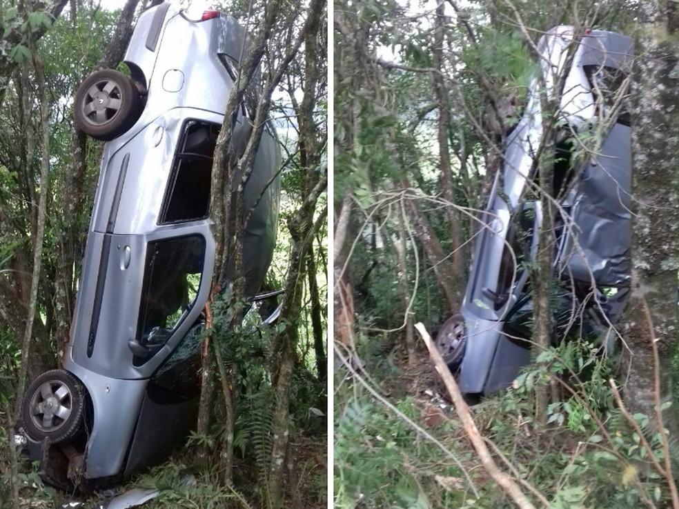 Motorista seguia para Laranjeiras do Sul quando sofreu o acidente (Foto: PRF/Divulgação)
