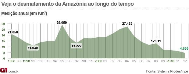 Desmatamento Amazônia 2012 (Foto:  )