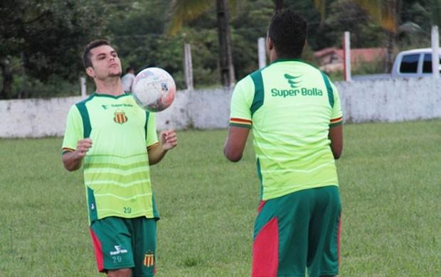 Rômulo já foi incorporado ao grupo tricolor  (Foto: Divulgação/Site do Sampaio)