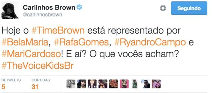 Carlinhos Brown também posta sobre os candidatos (Foto: Gshow)