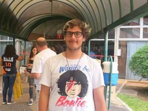 Estudante Michel Fukuda disse que prova estava 'conteudista' (Foto: Carol Giantomaso/G1)