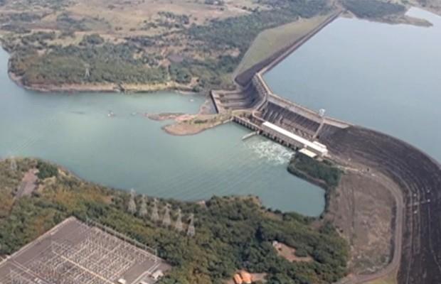 Situação é mais grave na Usina de São Simão, em Goiás (Foto: Reprodução/TV Anhanguera)