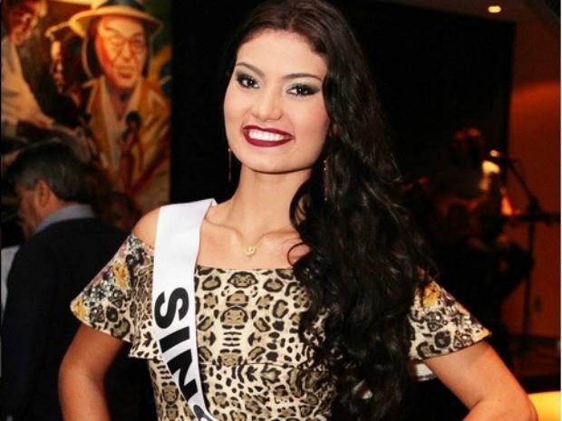 Miss Sinop Vitória Maroco, 18 anos,1,82m de altura e 65 kg (Foto: Divulgação)