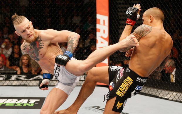 Conor McGregor x Dustin Poirier ufc las vegas (Foto: Getty Images)