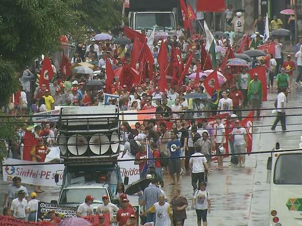 Grito dos Excluídos, no Recife (Foto: Reprodução / TV Globo)