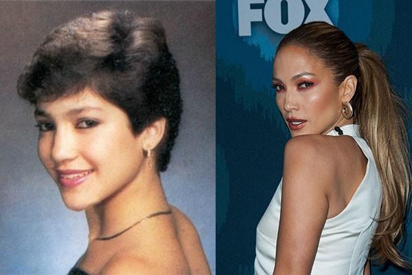 Jennifer Lopez é sempre lembrada quando se mencionam famosas bem conservadas. Com 45 anos, a cantora e atriz nem parece mais a mesma pessoa de sua adolescência (Foto: Reprodução e Getty Images)