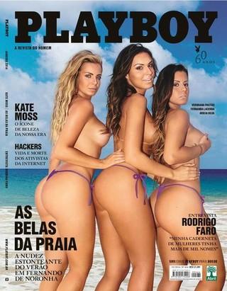 Fernanda na capa da Playboy em janeiro: seu primeiro nu para a revista (Foto: Reprodução)