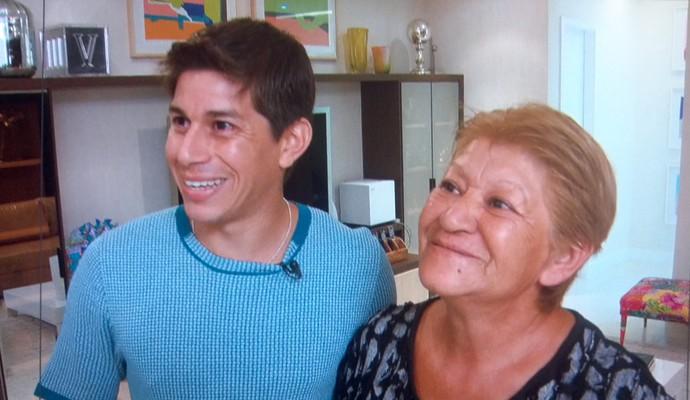 Конка и мама Зрелищного Спорта (Фото: Воспроизведение TV Globo)